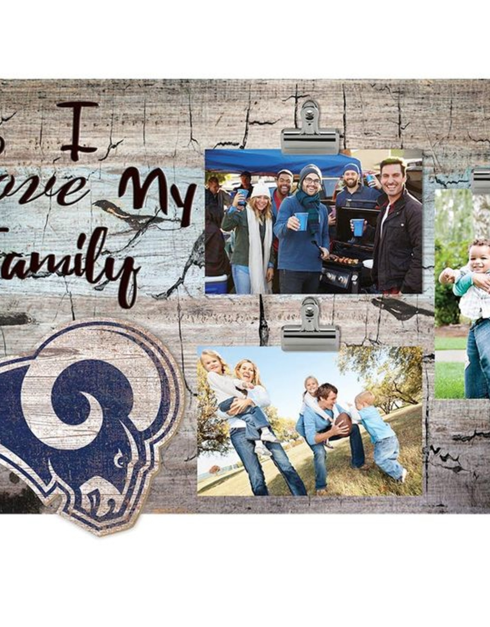 FAN CREATIONS Los Angeles Rams Love My Family Photo Clip Frame