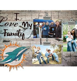 FAN CREATIONS Miami Dolphins Love My Family Photo Clip Frame