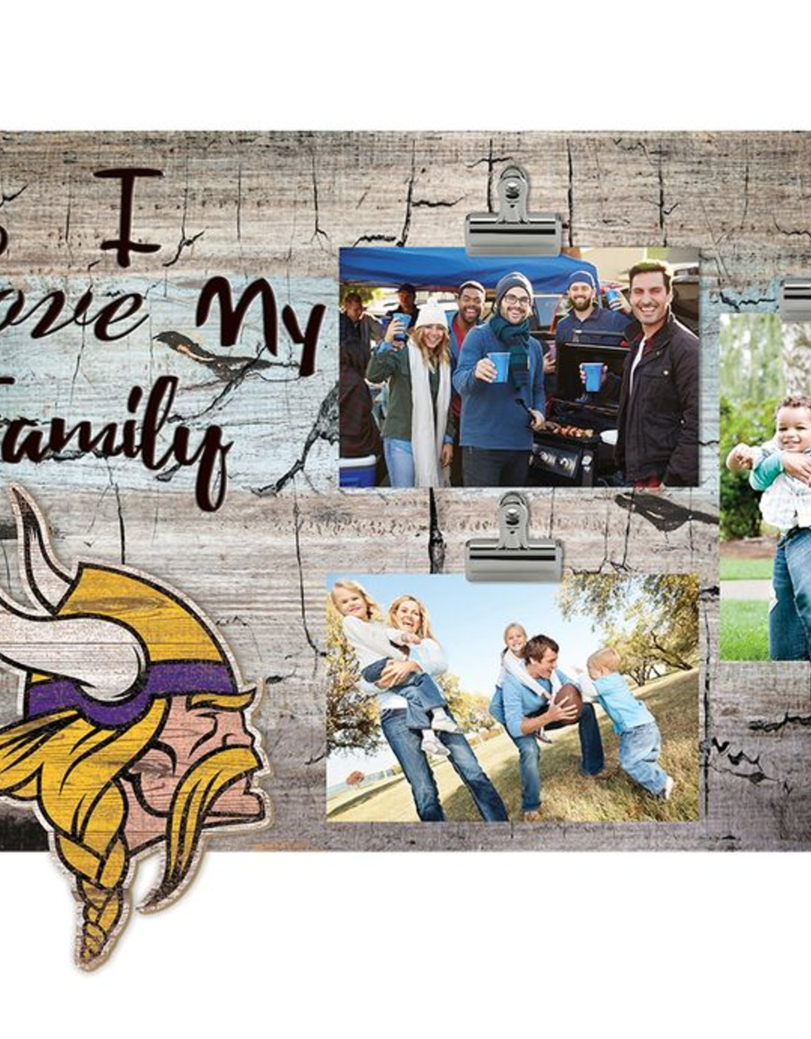 FAN CREATIONS Minnesota Vikings Love My Family Photo Clip Frame