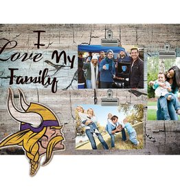 FAN CREATIONS Minnesota Vikings Love My Family Photo Clip Frame