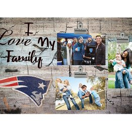 FAN CREATIONS New England Patriots Love My Family Photo Clip Frame
