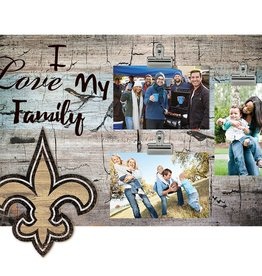 FAN CREATIONS New Orleans Saints Love My Family Photo Clip Frame