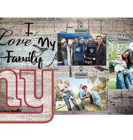FAN CREATIONS New York Giants Love My Family Photo Clip Frame