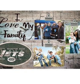 FAN CREATIONS New York Jets Love My Family Photo Clip Frame