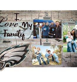 FAN CREATIONS Philadelphia Eagles Love My Family Photo Clip Frame