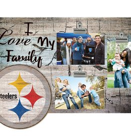 FAN CREATIONS Pittsburgh Steelers Love My Family Photo Clip Frame
