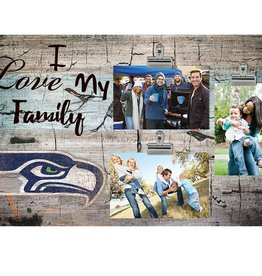 FAN CREATIONS Seattle Seahawks Love My Family Photo Clip Frame