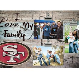 FAN CREATIONS San Francisco 49ers Love My Family Photo Clip Frame