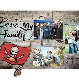FAN CREATIONS Tampa Bay Buccaneers Love My Family Photo Clip Frame