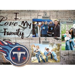 FAN CREATIONS Tennessee Titans Love My Family Photo Clip Frame