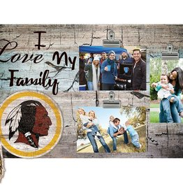 FAN CREATIONS Washington Redskins Love My Family Photo Clip Frame