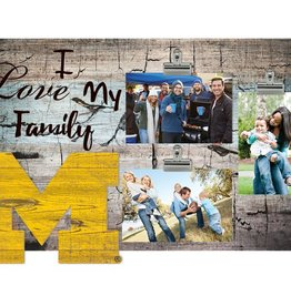 FAN CREATIONS Michigan Wolverines Love My Family Photo Clip Frame