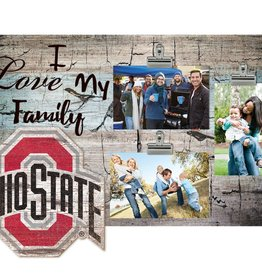 FAN CREATIONS Ohio State Buckeyes Love My Family Photo Clip Frame