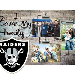 FAN CREATIONS Oakland Raiders Love My Family Photo Clip Frame