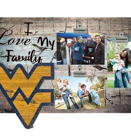 FAN CREATIONS West Virginia Mountaineers Love My Family Photo Clip Frame