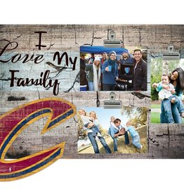 FAN CREATIONS Cleveland Cavaliers Love My Family Photo Clip Frame