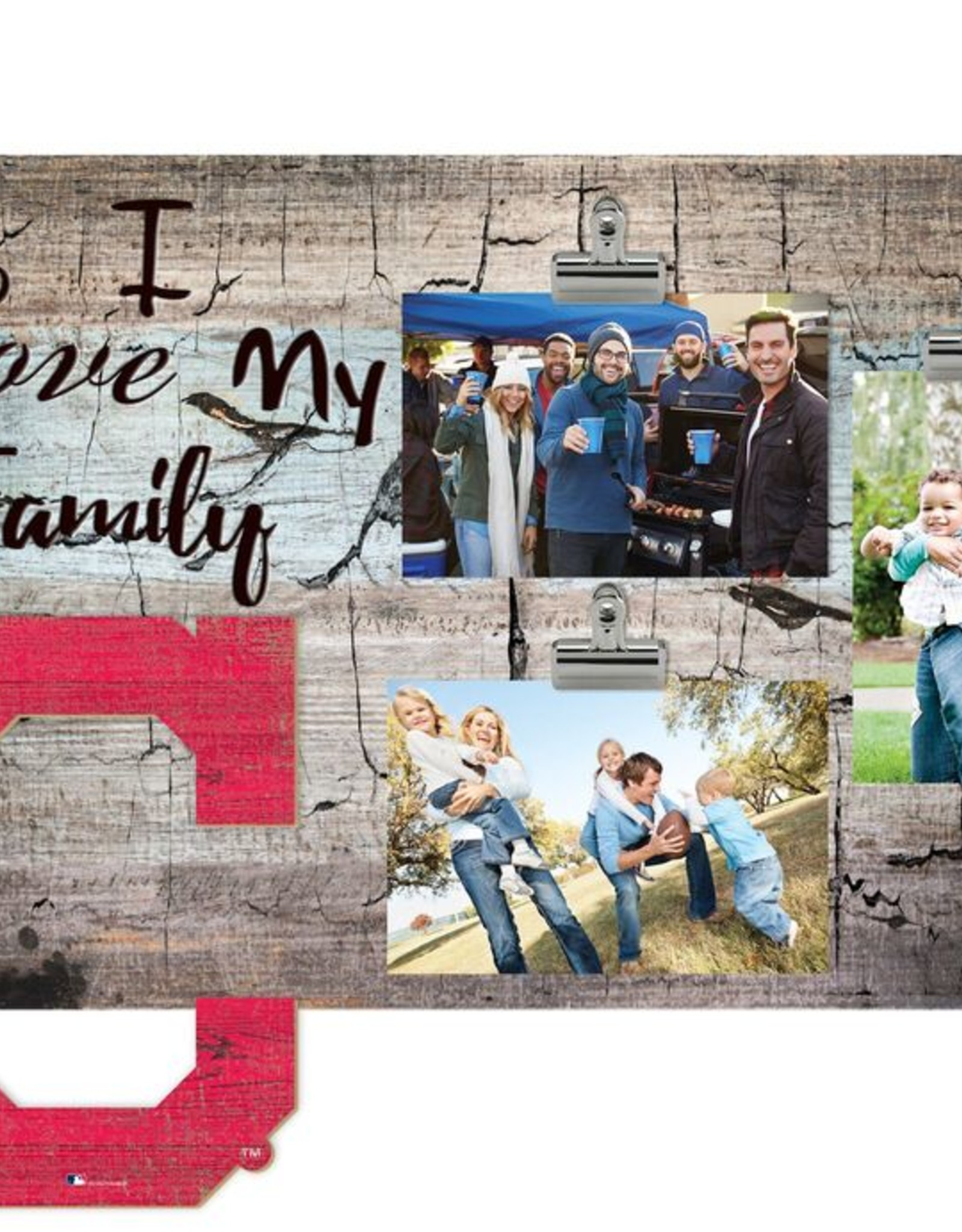 FAN CREATIONS Cleveland Indians Love My Family Photo Clip Frame