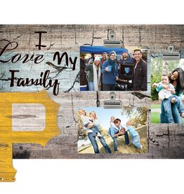 FAN CREATIONS Pittsburgh Pirates Love My Family Photo Clip Frame