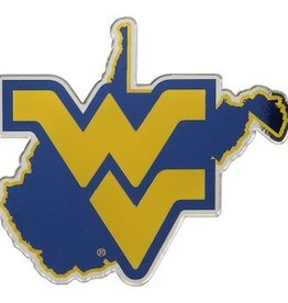 West Virginia Mountaineers State Auto Emblem