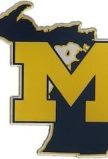 Michgian Wolverines State Auto Emblem