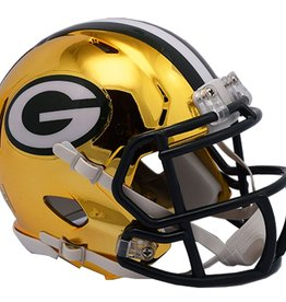 RIDDELL Green Bay Packers Chrome Mini Speed Helmet