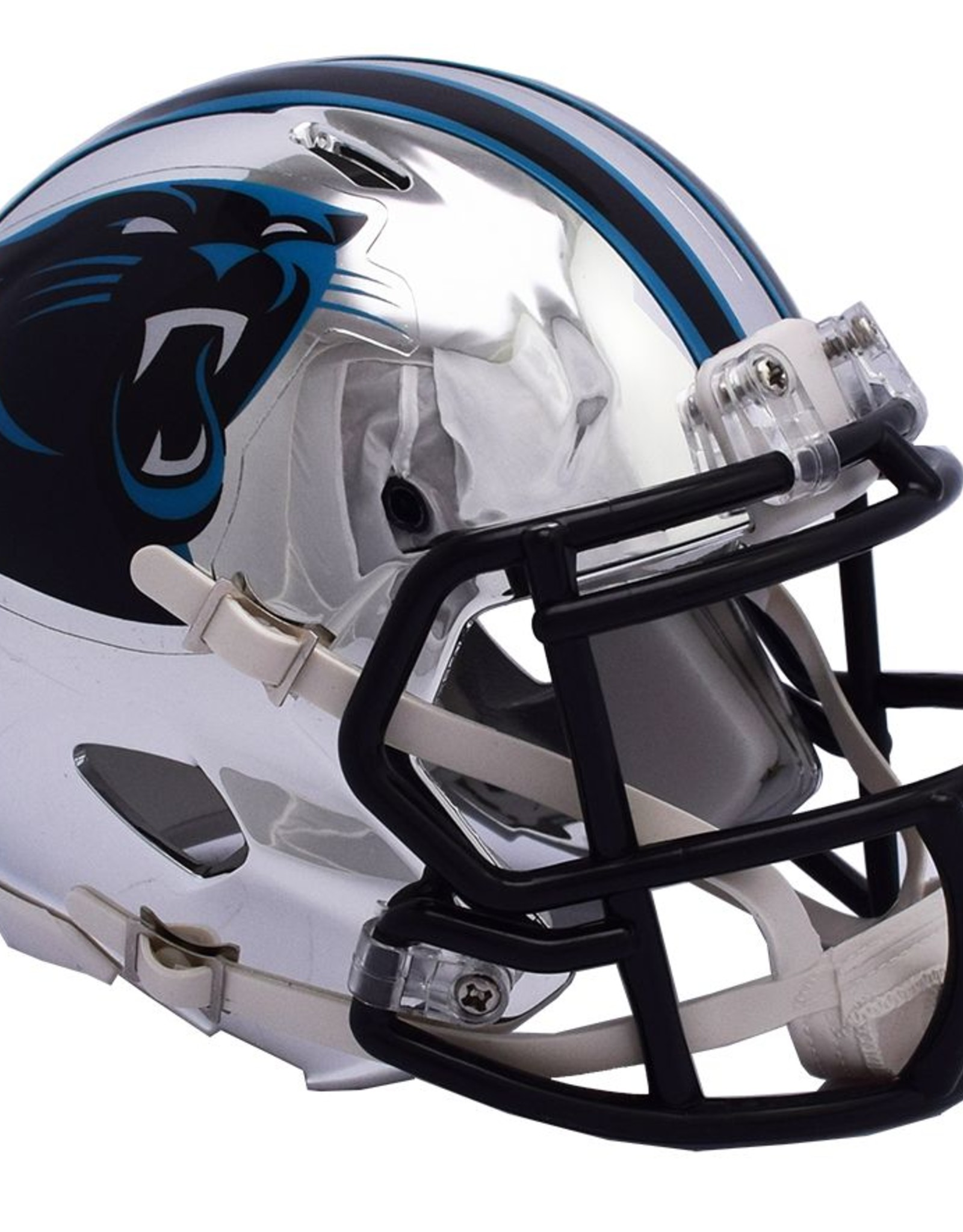RIDDELL Carolina Panthers Chrome Mini Speed Helmet