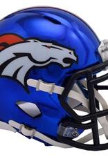 RIDDELL Denver Broncos Chrome Mini Speed Helmet
