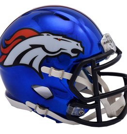 RIDDELL Denver Broncos Chrome Mini Speed Helmet