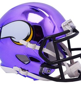 RIDDELL Minnesota Vikings Chrome Mini Speed Helmet