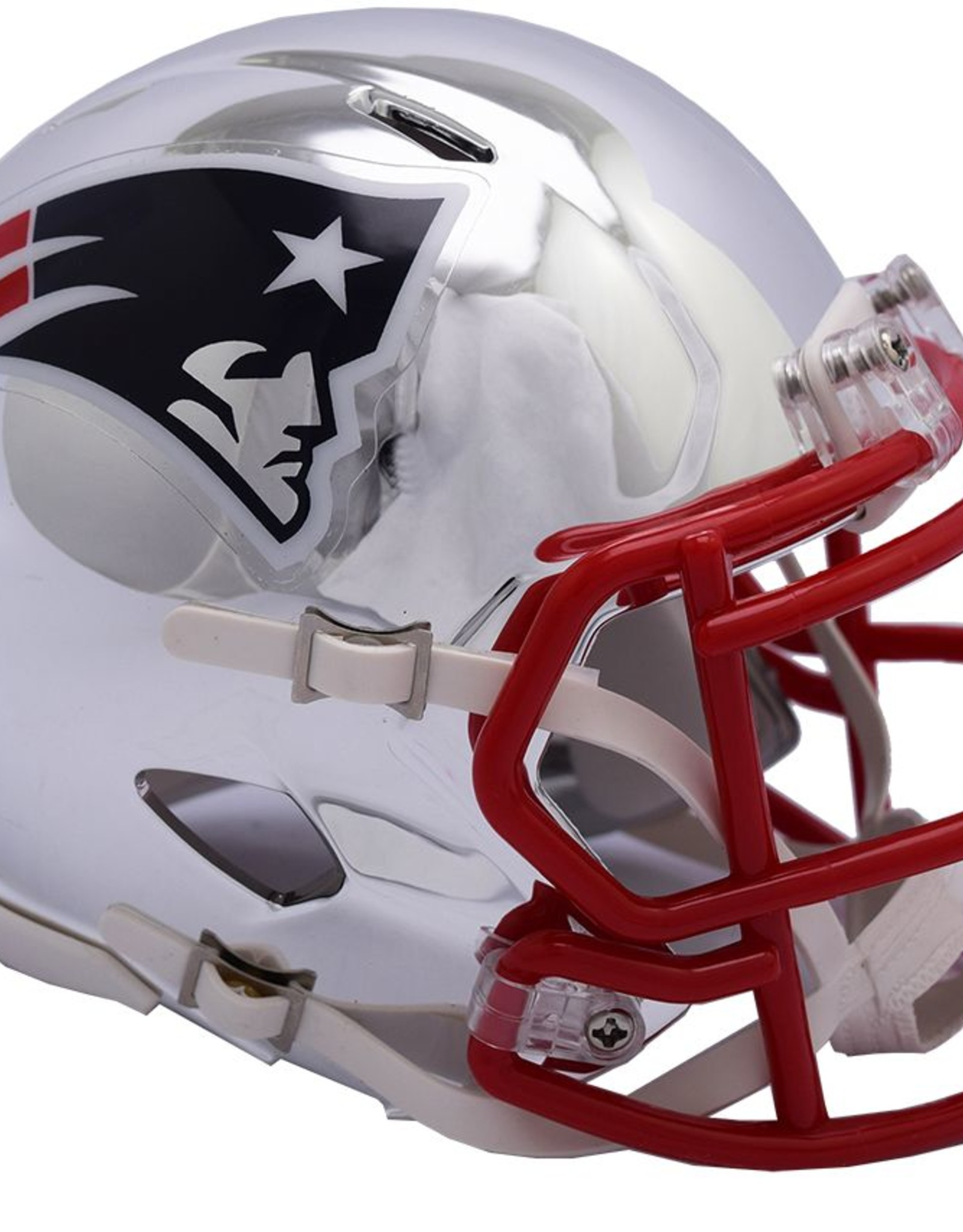 RIDDELL New England Patriots Chrome Mini Speed Helmet