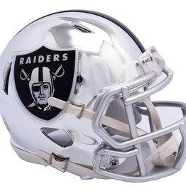 RIDDELL Oakland Raiders Chrome Mini Speed Helmet