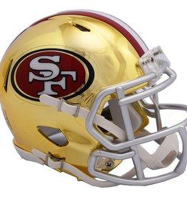 RIDDELL San Francisco 49ers Chrome Mini Speed Helmet