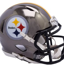 RIDDELL Pittsburgh Steelers Chrome Mini Speed Helmet