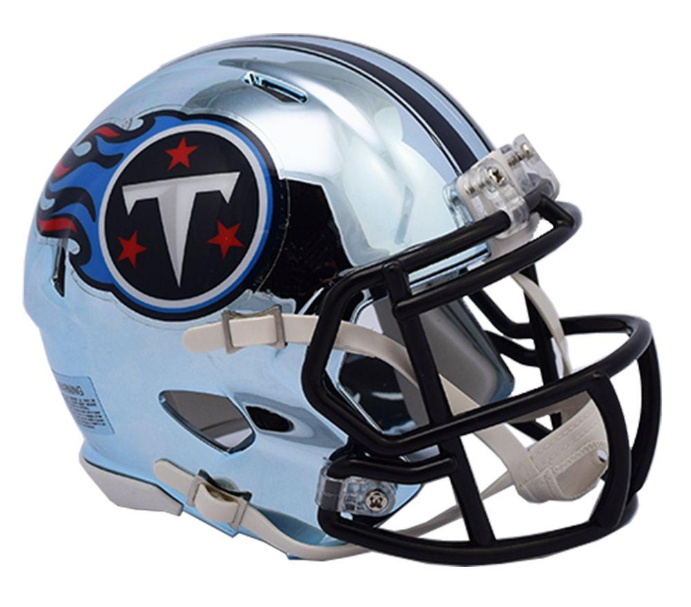 Riddell Tennessee Titans Chrome Mini Speed Helmet Touchdown Gifts Inc