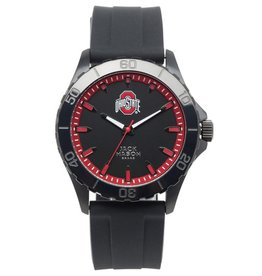 JACK MASON Ohio State Jack Mason Men's Blackout Silicone Watch