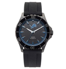 JACK MASON Detriot Lions Jack Mason Men's Blackout Silicone Watch