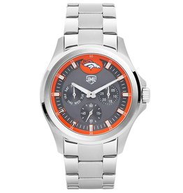 JACK MASON Denver Broncos Jack Mason Men's Alumni Silver Multi-Function Watch