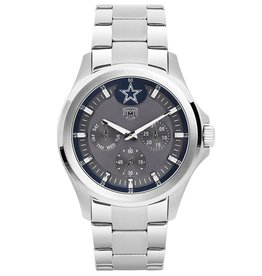 JACK MASON Dallas Cowboys Jack Mason Men's Alumni Silver Multi-Function Watch