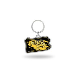 Pittsburgh Pirates State Shaped Key Ring