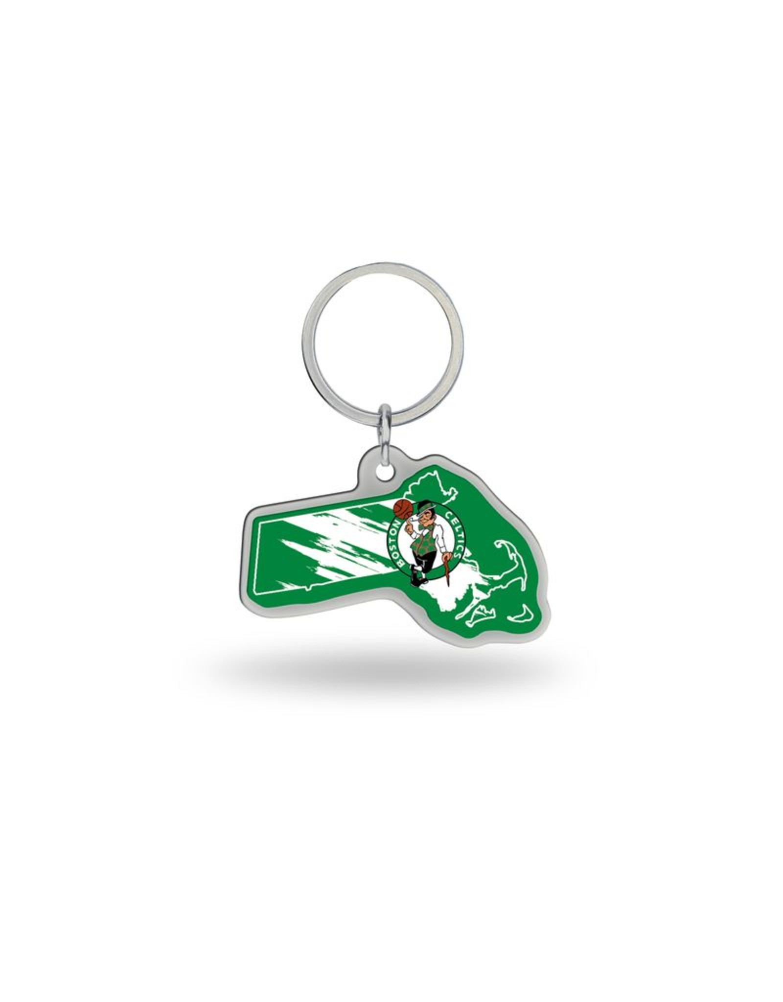 Boston Celtics State Shaped Key Ring