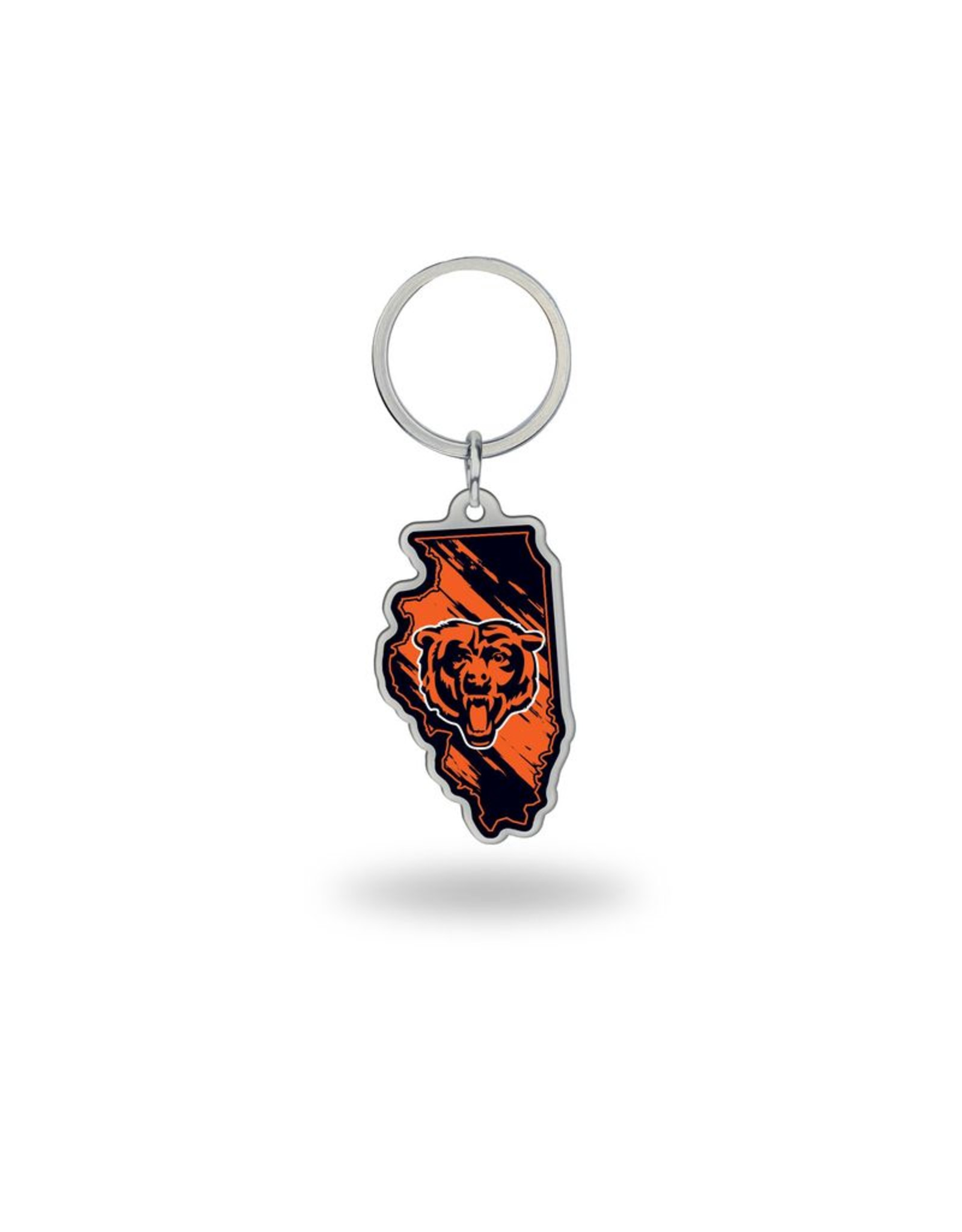 Chicago Bears State Shaped Key Ring