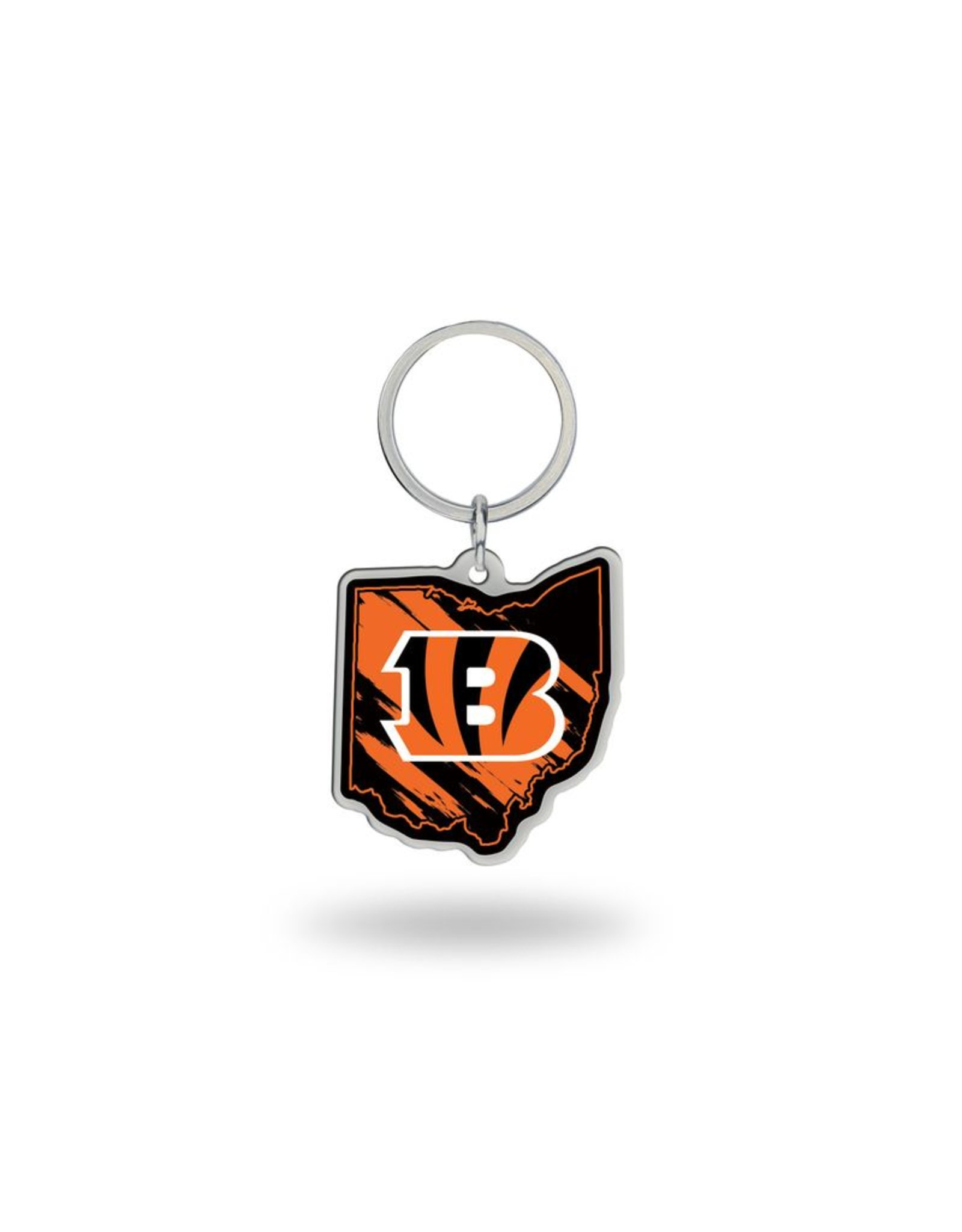Cincinnati Bengals State Shaped Key Ring