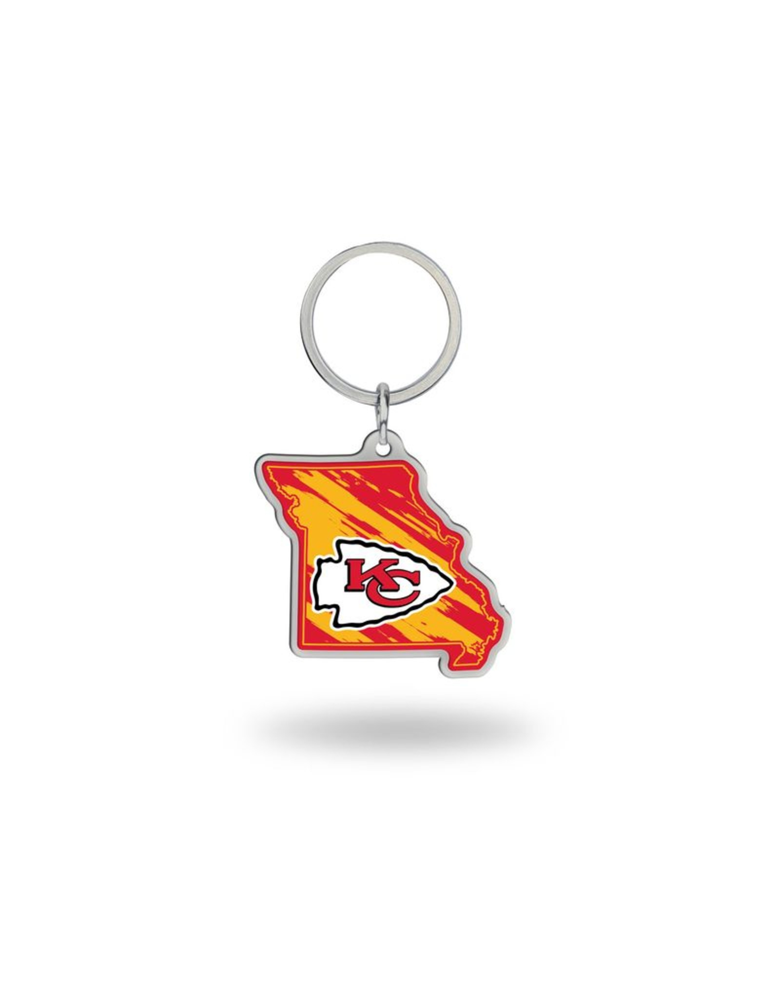 Kansas City Chiefs State Shaped Key Ring