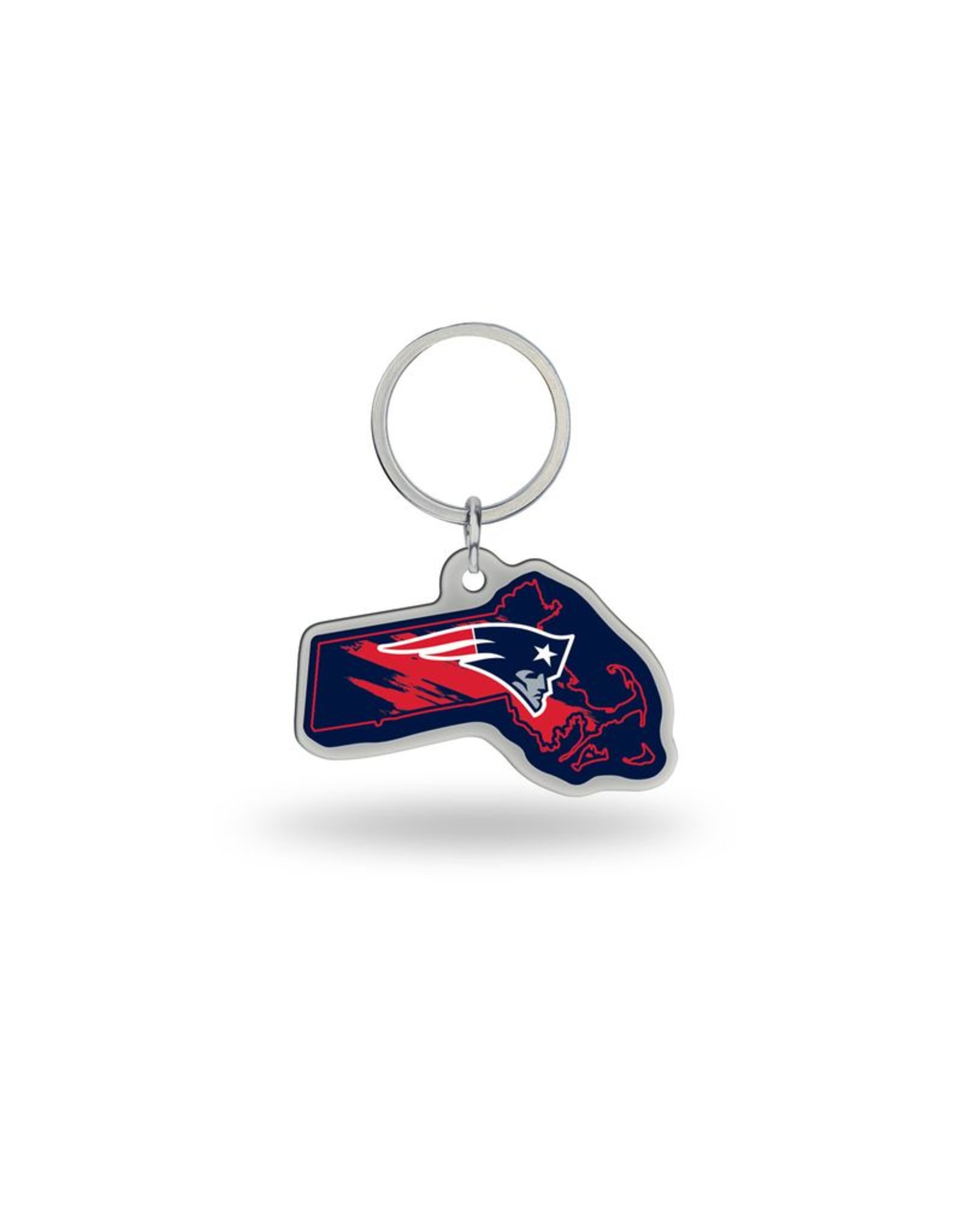 New England Patriots State Shaped Key Ring