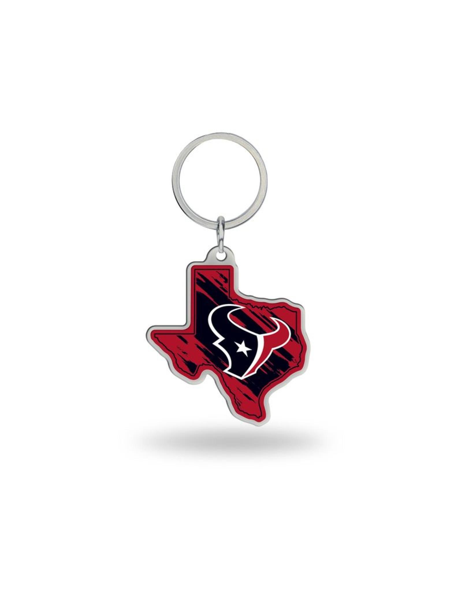 Houston Texans State Shaped Key Ring
