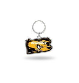 Pittsburgh Penguins State Shaped Key Ring