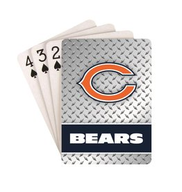 PRO SPECIALTIES GROUP Chicago Bears Steel Grid Playing Cards