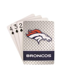 PRO SPECIALTIES GROUP Denver Broncos Steel Grid Playing Cards