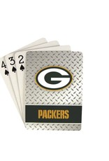 PRO SPECIALTIES GROUP Green Bay Packers Steel Grid Playing Cards