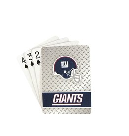 PRO SPECIALTIES GROUP New York Giants Steel Grid Playing Cards